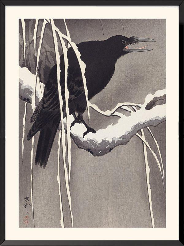 Estampe Grand corbeau de Ohara Koson