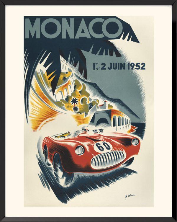 Affiche Monaco 1952 de bernard Minne