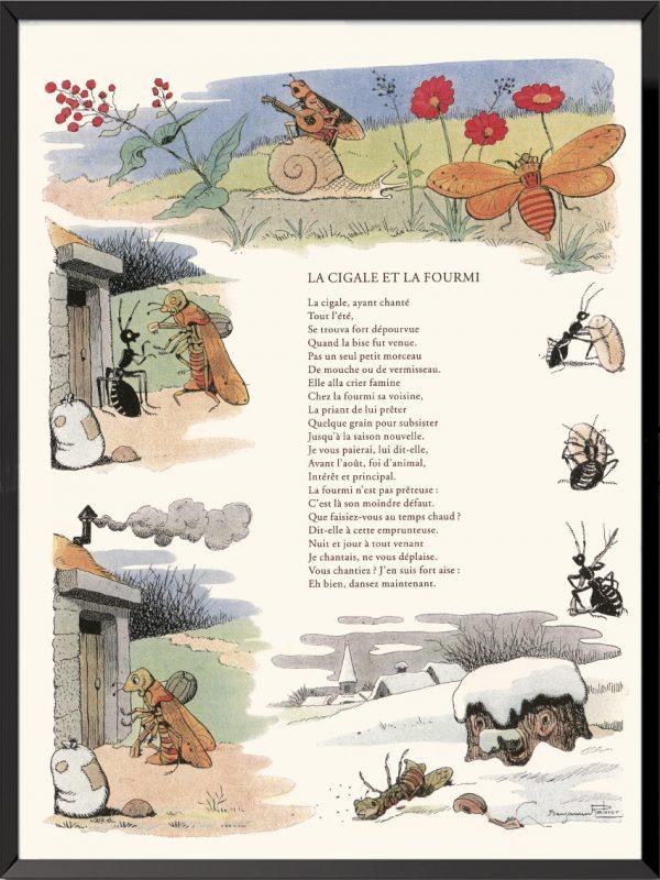 fables la fontaine benjamin rabier la cigale et la fourmi