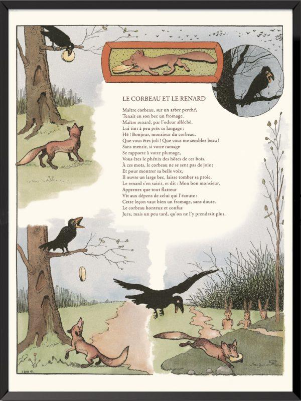 fables lafontaine benjamin rabier le corbeau et le renard