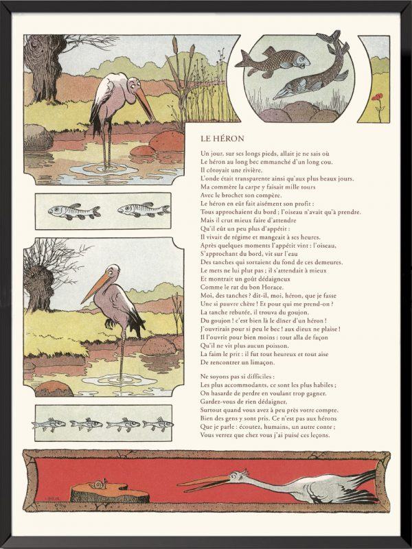 fables lafontaine benjamin rabier le heron