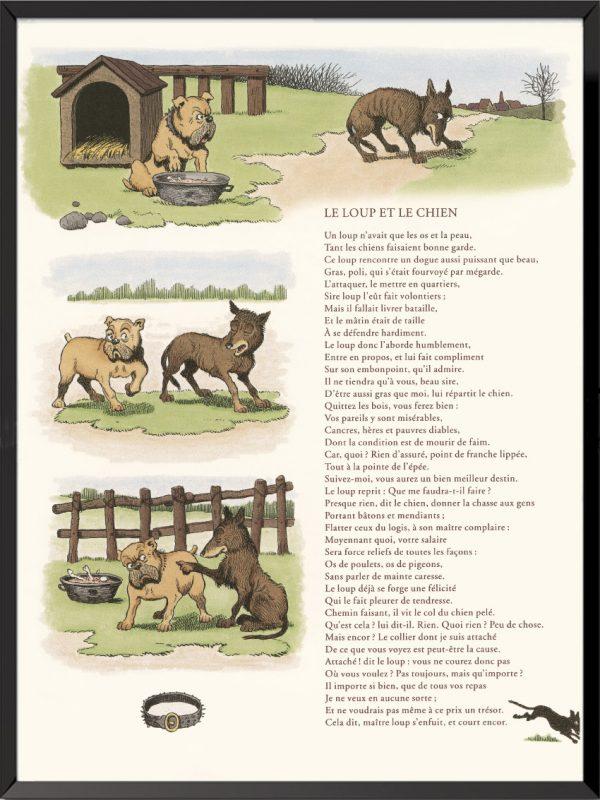 fables lafontaine benjamin rabier le loup et le chien