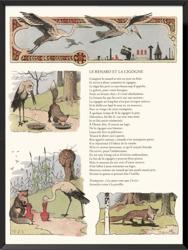 fables lafontaine benjamin rabier le renard et la cigogne