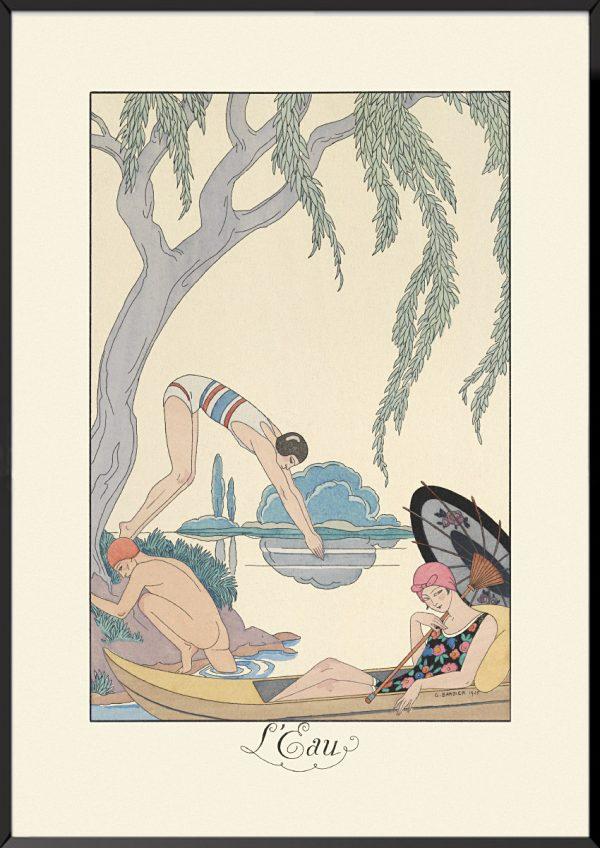Illustration georges barbier l'eau