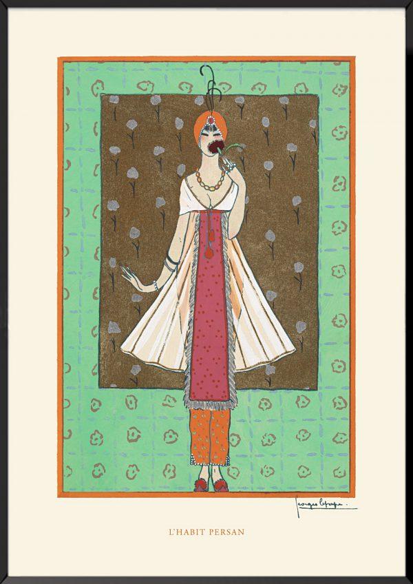 Illustration georges lepape l'habit persan