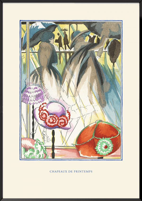 Illustration robert bonfils chapeaux de printemps