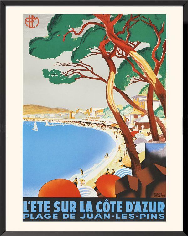 Affiche roger broders juan-les-pins