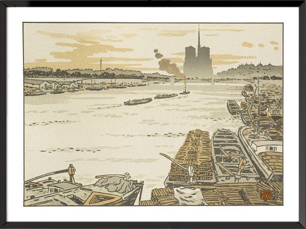 Illustration henri riviere du pont d'austerlitz