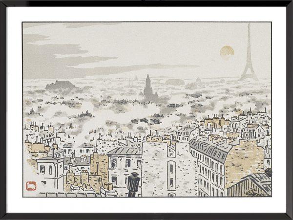 Illustration henri riviere rue des abesses
