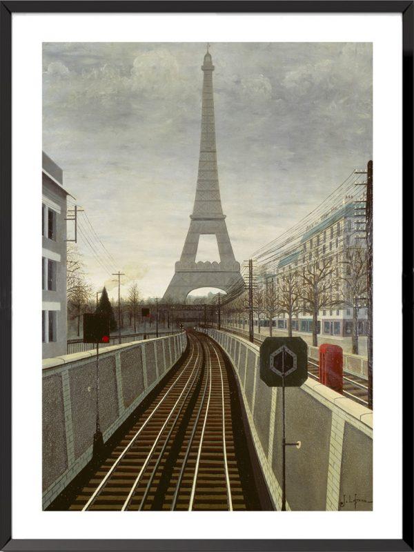 Illustration jules lefranc la tour eiffel et le chemin de fer de versailles