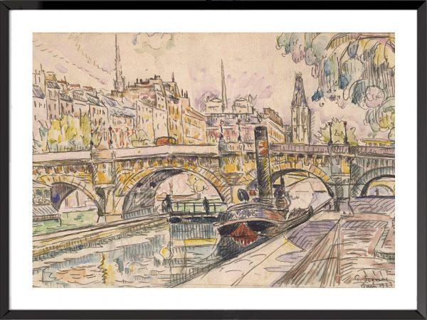 Illustration paul signac pont neuf